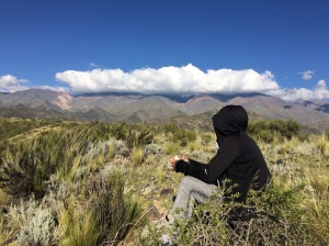 Clouds hide mount Plata